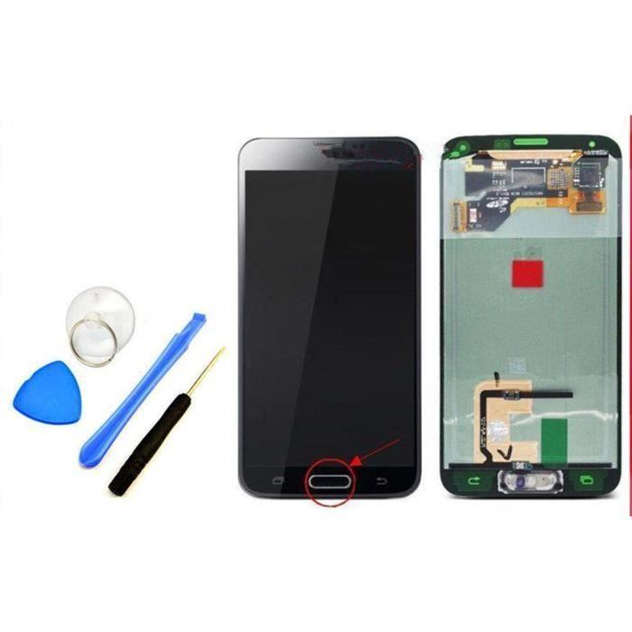 cran noir lcd vitre tactile outils gratuit pour samsung galaxy s5 i9600 g900f achat pi ce. Black Bedroom Furniture Sets. Home Design Ideas