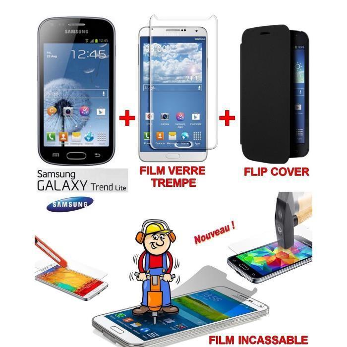 pack verre trempe samsung galaxy trend lite achat smartphone pas cher avis et meilleur prix. Black Bedroom Furniture Sets. Home Design Ideas