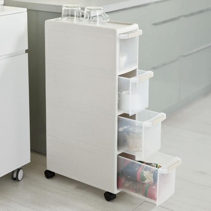 Sobuy frg41 hg chariot pour rangement cuisine salle de for Meuble a tiroir pour cuisine