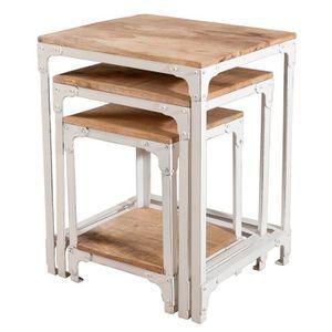 Table salon style industriel achat vente table salon - Table style industriel pas cher ...
