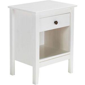 table de chevet metal blanc achat vente table de chevet metal blanc pas cher cdiscount. Black Bedroom Furniture Sets. Home Design Ideas