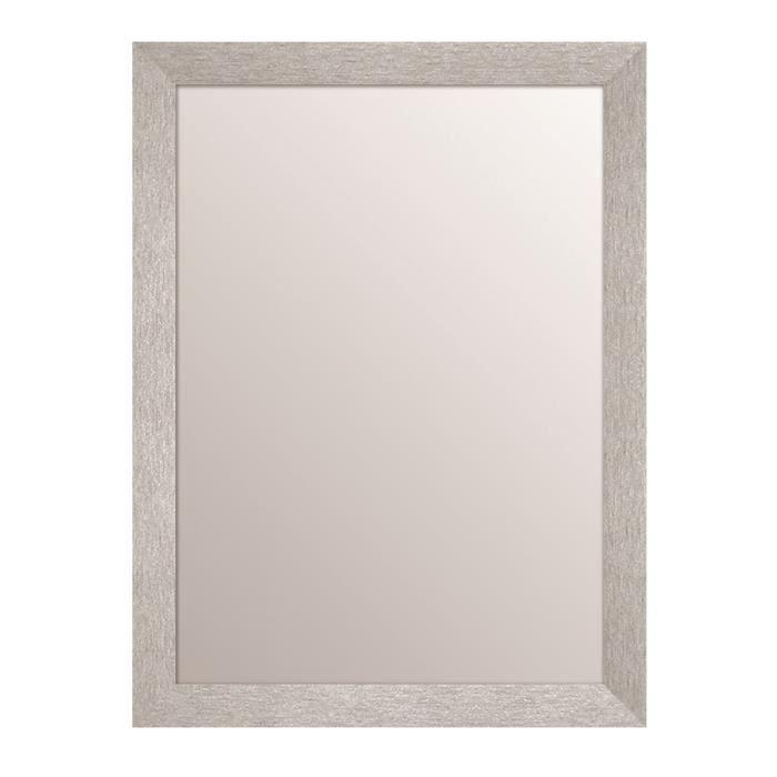 Texa miroir rectangulaire 50x70 cm argent achat vente for O miroir la rochelle