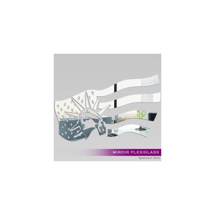 Miroir plexiglass acrylique united state ref mir 224 for Miroir qui s ouvre