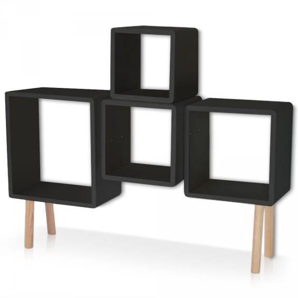 etageres sur pieds dali noir couleur blanc achat. Black Bedroom Furniture Sets. Home Design Ideas