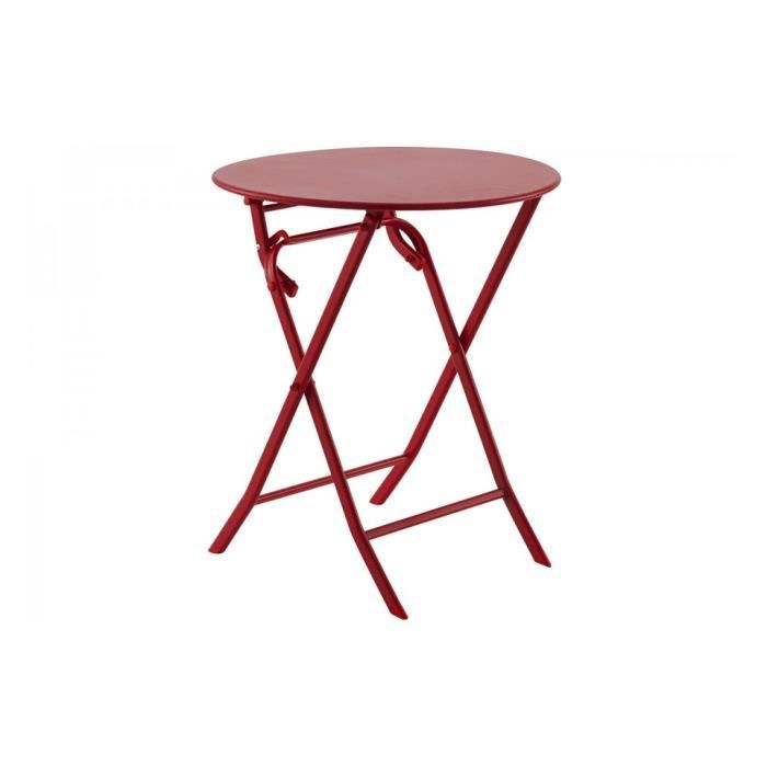 Table greensboro ronde 60cm achat vente table de for Table d appoint jardin