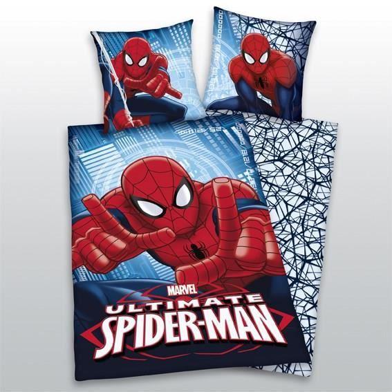 parure de couette spiderman enfant 100 coton 1 housse. Black Bedroom Furniture Sets. Home Design Ideas