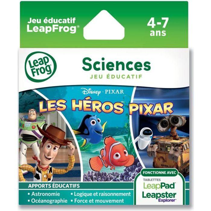 JEU CONSOLE EDUCATIVE HEROS PIXAR Explorer Jeu LeapPad LeapFrog