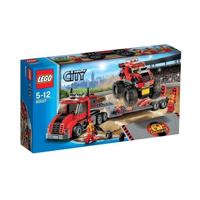 Lego camion transport du monster truck 60027 gar 231 on 224 partir