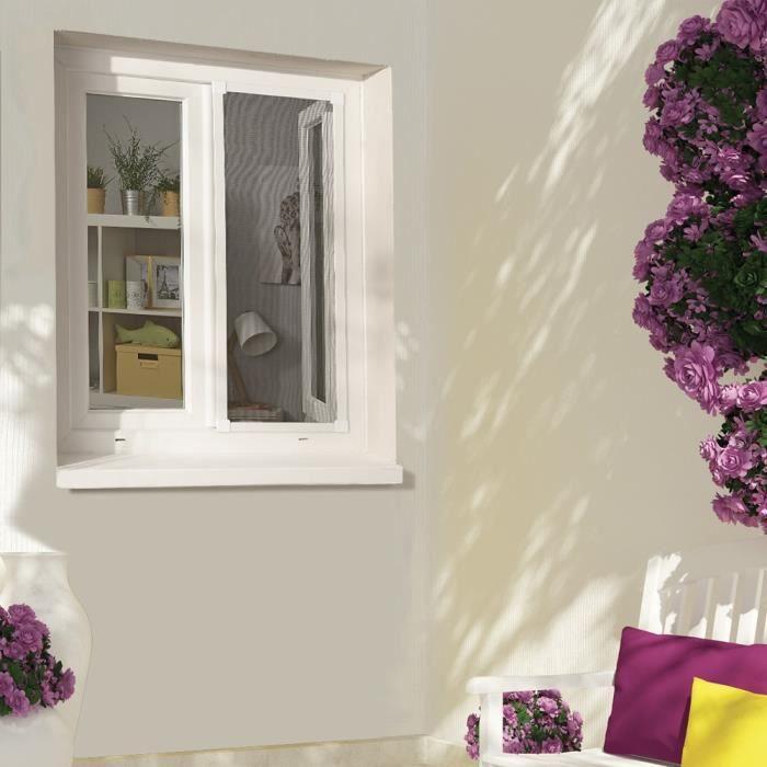 Moustiquaire cadre fixe recoupable pour fen tre achat vente moustiquaire ouverture cdiscount - Moustiquaire fixe fenetre pvc ...