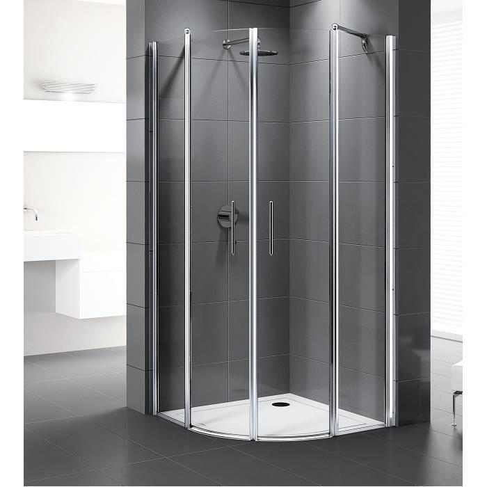 paroi de douche 1 4 cercle young r 74 77 aqua achat vente cabine de douche paroi de. Black Bedroom Furniture Sets. Home Design Ideas