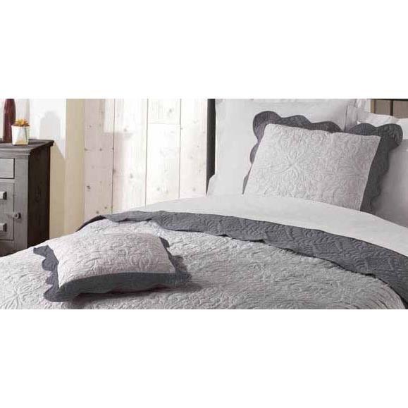 housse de coussin 60x60 emma gris anthracite achat. Black Bedroom Furniture Sets. Home Design Ideas