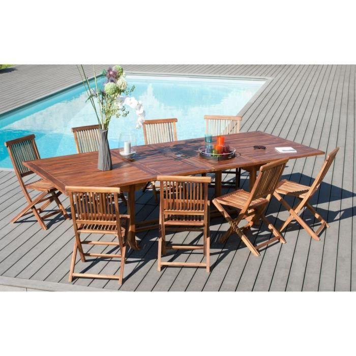 Table de jardin extensible en teck huil massif 200 for Table extensible en largeur