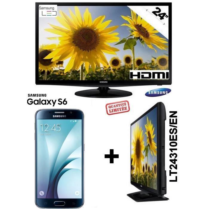 samsung s6 noir g920 galaxy ecran plat led tv 24 pouces. Black Bedroom Furniture Sets. Home Design Ideas
