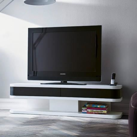 meuble tv noir et blanc design achat vente meuble tv. Black Bedroom Furniture Sets. Home Design Ideas