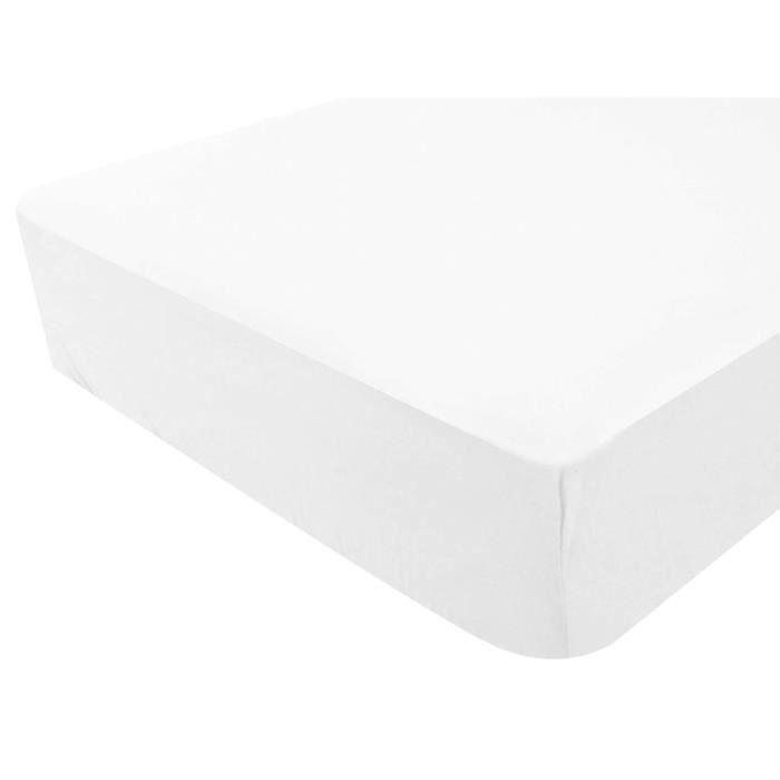 prot ge matelas matelass imperm able 140x190 cm achat vente prot ge matelas cdiscount. Black Bedroom Furniture Sets. Home Design Ideas