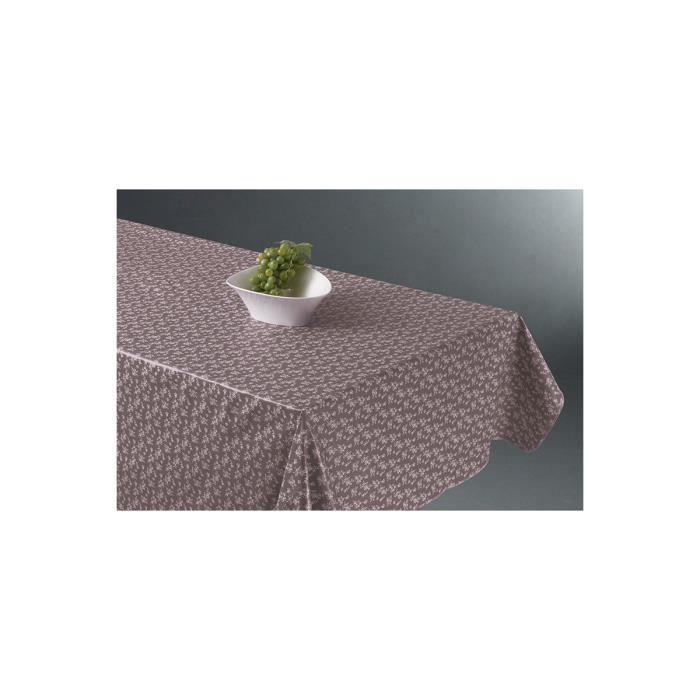 nappe rectangle fleurs en toile cir e grise achat vente nappe de table cdiscount. Black Bedroom Furniture Sets. Home Design Ideas