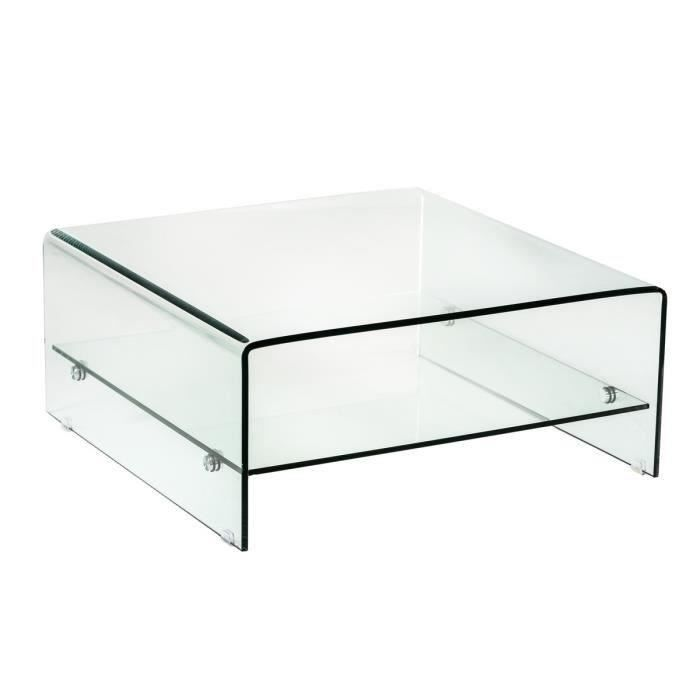 vitra table basse 80cm plateaux en verre tremp blanc. Black Bedroom Furniture Sets. Home Design Ideas