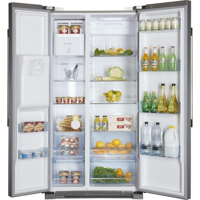 haier refrigerateur americain r frig rateur electrom nager. Black Bedroom Furniture Sets. Home Design Ideas