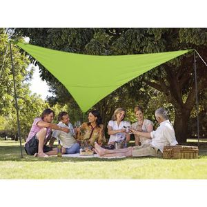 VOILE D'OMBRAGE Kit voile d'ombrage triangulaire 3,60 m vert pomme