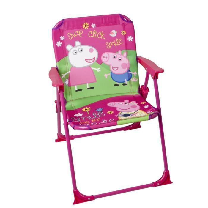 chaise pliable pour enfant peppa pig achat vente fauteuil jardin chaise pliable pour enfant. Black Bedroom Furniture Sets. Home Design Ideas