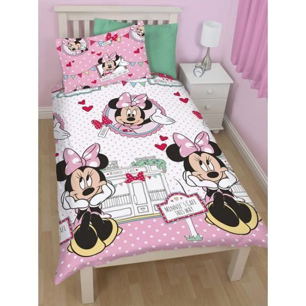 parure de lit minnie mouse disney cafe achat vente parure de drap cdiscount. Black Bedroom Furniture Sets. Home Design Ideas