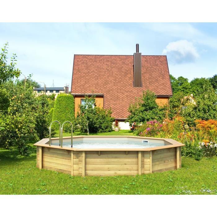 odyssea piscine bois 4 40 x h 1 20 m liner sable achat. Black Bedroom Furniture Sets. Home Design Ideas