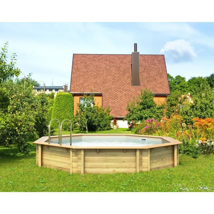 Odyssea piscine bois 4 40 x h 1 20 m liner sable achat for Chauffage piscine 17m3