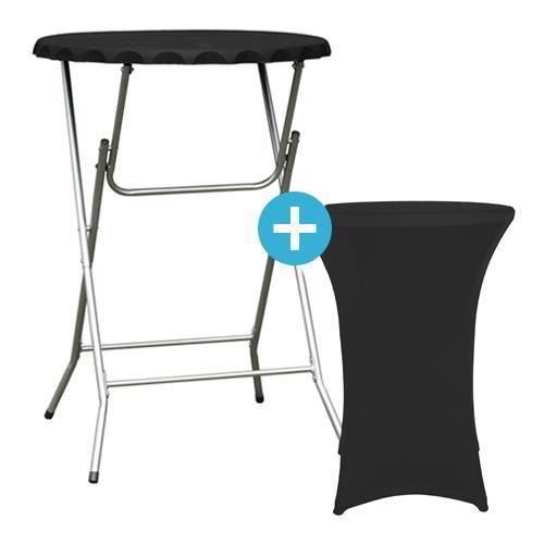 Table haut mange debout pliante avec housse achat vente table de jardin t - Table mange debout avec rangement ...