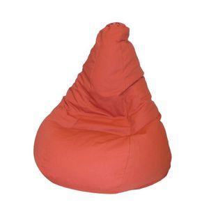 POUF - POIRE VALENCAY Poire pouf en coton Ø80x120 cm marron cha