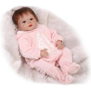 POUPÉE 57 cm Bébé de Couchage Poupées Silicone Reborn Pou