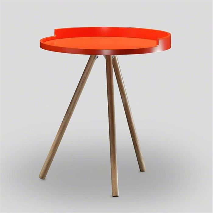 table d 39 appoint scandinave orange achat vente table d 39 appoint table d 39 appoint scandinave. Black Bedroom Furniture Sets. Home Design Ideas