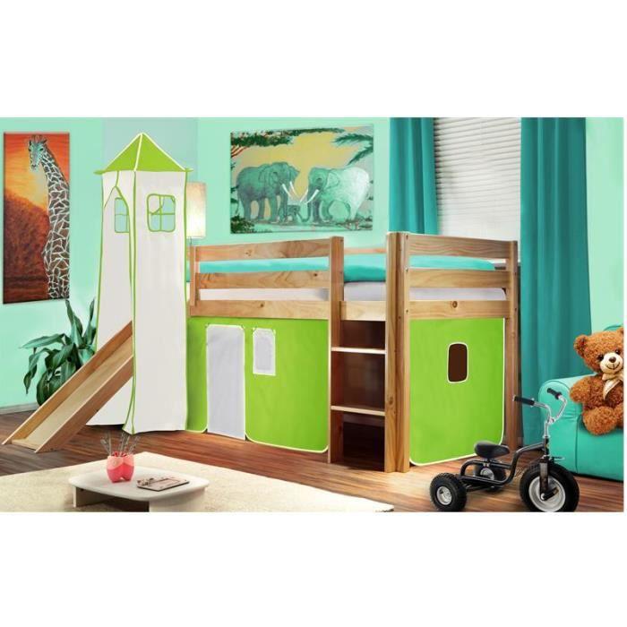 lit surelev sommier matelas tour et tobbogan achat vente ensemble literie cdiscount. Black Bedroom Furniture Sets. Home Design Ideas