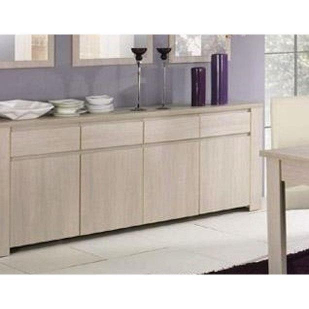 Buffet 4 portes et 4 tiroirs couleur bouleau achat vente buffet bahut - Buffet 4 portes 4 tiroirs ...