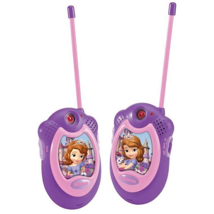 disney princesse sofia walkie talkie achat vente talkie walkie jouet soldes d t d s le. Black Bedroom Furniture Sets. Home Design Ideas
