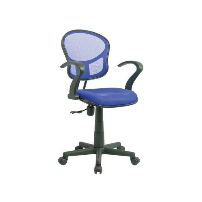 Justhome q 141 chaise fauteuil de bureau bleu 80 92 x 52 - Chaise de bureau bleu ...