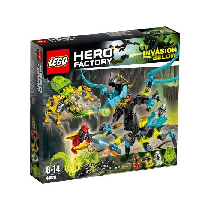 Lego hero factory 44029 queen beast contre furno achat vente assemblage construction cdiscount - Lego hero factory jeux ...