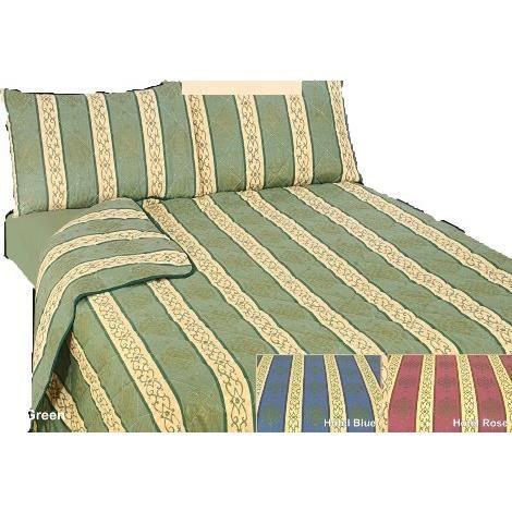couvre lit dessus de lit 243x264 cm h tel vert achat vente jet e de lit boutis cdiscount. Black Bedroom Furniture Sets. Home Design Ideas