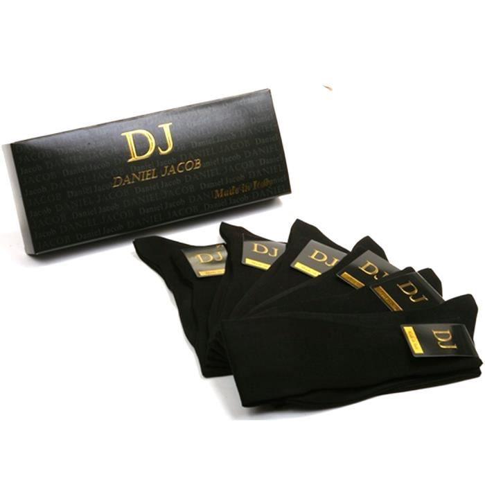 6 paires chaussettes homme noires longues 100 coton. Black Bedroom Furniture Sets. Home Design Ideas
