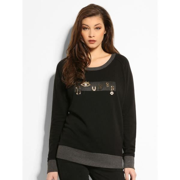 PULL GUESS FEMME NOIR Achat / Vente pull