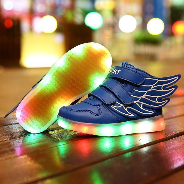 7 couleurs de recharge usb enfants souliers d 39 clignotants. Black Bedroom Furniture Sets. Home Design Ideas