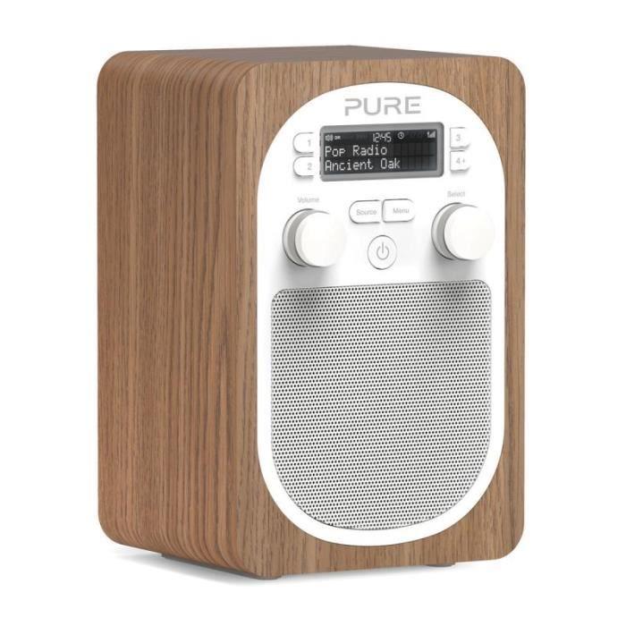 Pure evoke d2 oak radio fm et num rique portable radio for Radio numerique portable