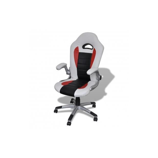 Superbe fauteuil en cuir moderne de bureau design blanc achat vente chais - Fauteuil moderne blanc ...