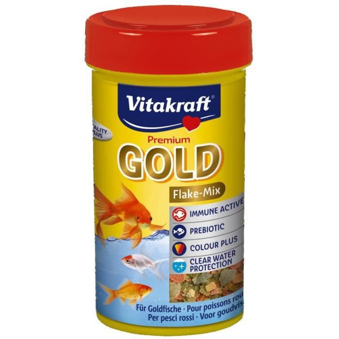 Gold aliment en flocons pour poissons rouges achat for Aliment pour poisson rouge