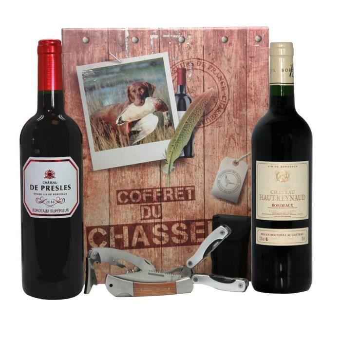 coffret chasseur vin et accessoires achat vente coffret cadeau vin coffret chasseur cdiscount. Black Bedroom Furniture Sets. Home Design Ideas
