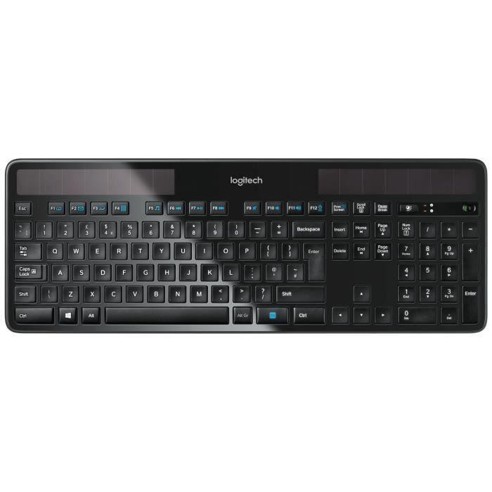 destockage logitech clavier sans fil solaire k750 clavier d 39 ordinateur au meilleur prix. Black Bedroom Furniture Sets. Home Design Ideas