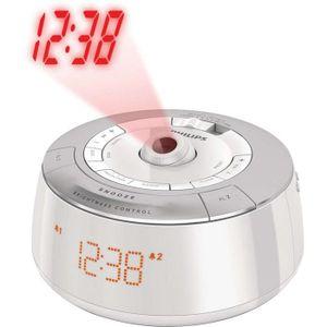 PHILIPS AJ5030 Radio réveil Tuner FM avec projection de l'heure - Blanc