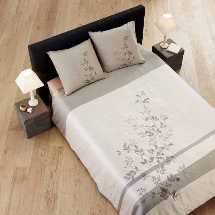 madura parure de lit sinza 160x200 gris achat vente parure de drap soldes cdiscount. Black Bedroom Furniture Sets. Home Design Ideas
