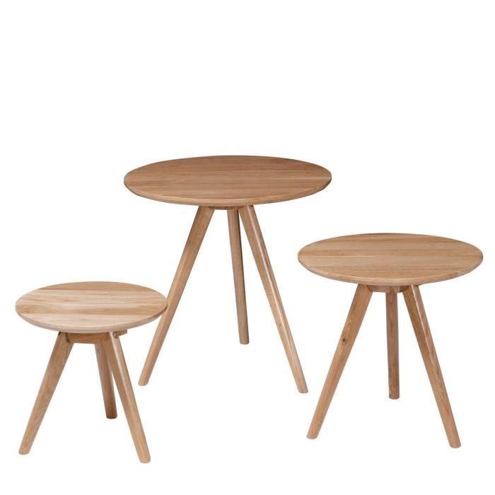 Lot de 3 tables basses scandinaves s ren couleu achat for Pietement de table basse