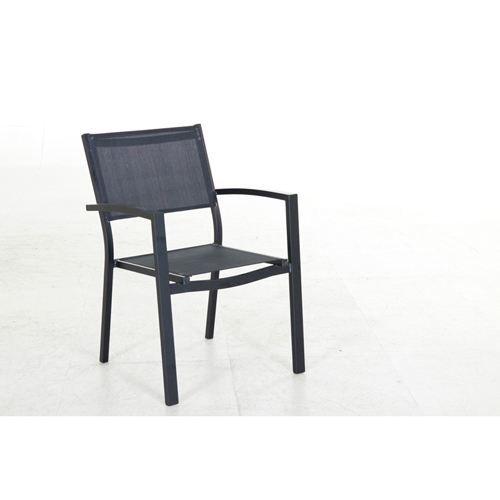 Fauteuil de jardin empilable montezalo noir achat vente fauteuil jardin fauteuil jardin for Fauteuil de jardin canadien