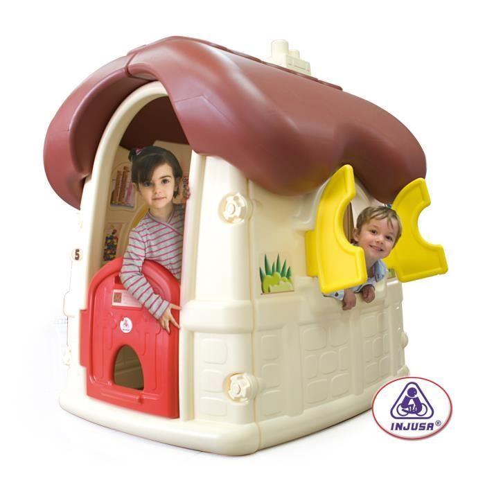 Injusa maison enfant chocolat cottage achat vente for Maison plein air enfant